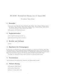 PG KOSI - Protokoll der Sitzung vom 12. Januar 2001