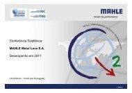 Apresentação para Call (Português) 2011 (versão 13 03 ... - mahle