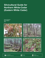 Silvicultural guide for northern white-cedar - Northern Research ...