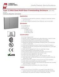 Specification Sheet - Hammond Mfg.