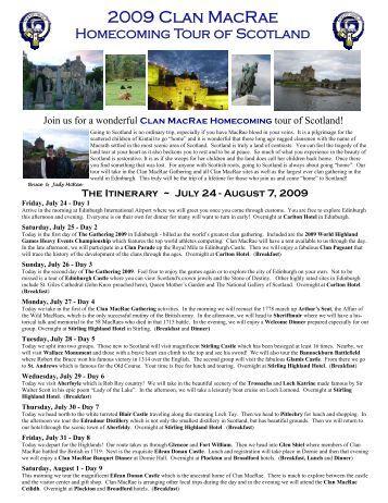 2009 Pub Brochure.pub - Clan MacRae Society of North America