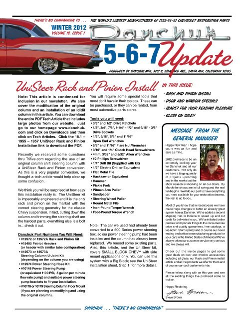 1955 56 Chevy Rubber Column Seal Upper Belair Sedan Hardtop Nomad Wagon