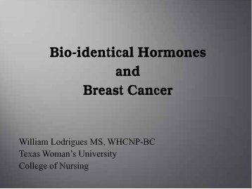 Bioidentical Hormones and Breast Cancer - essentiavitae.com