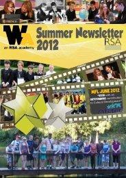Summer Newsletter 2012 - Whitley Academy