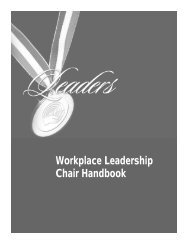 Workplace Leadership Chair Handbook - United Way / Centraide ...
