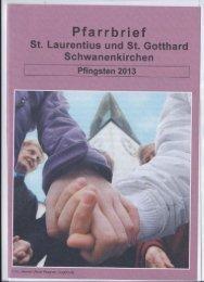 Pfarrbrief Pfingsten 2013 - Schwanenkirchen
