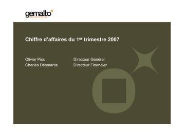 Chiffre d'affaires du 1er trimestre 2007 - Gemalto