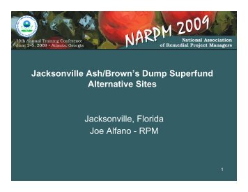 Jacksonville Ash/Brown's Dump Superfund Alternative Sites ...