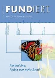 fundiert 02/2009 - GFS Fundraising & Marketing GmbH