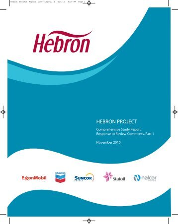 hebron project - Canada-Newfoundland Offshore Petroleum Board