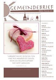 gemeindebrief für oktober und november 2013 - Evangelische ...