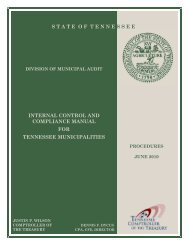 Internal control and compliance manual for - Tennessee Comptroller ...