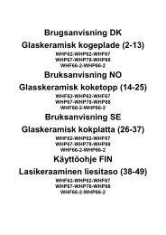 Brugsanvisning DK Glaskeramisk kogeplade (2-13) Bruksanvisning ...