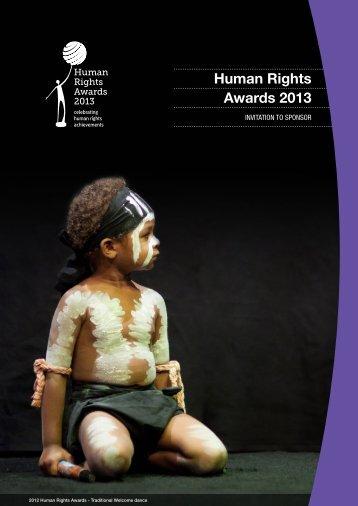 Invitation To Sponsor Document - Human Rights Awards 2013 ...