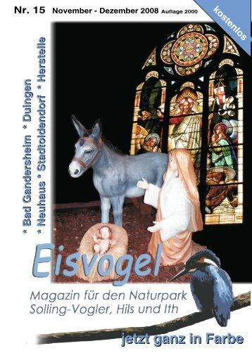 Eisvogel - 3. Jahrgang, Ausgabe 15, November-Dezember 2008
