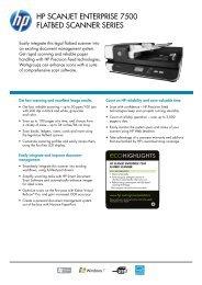 HP Scanjet enterPriSe 7500 Flatbed Scanner SerieS - Metro-oa.com