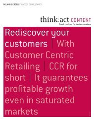 Rediscover your customers   With Customer Centric ... - Roland Berger