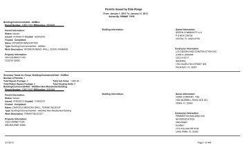 Permits Issue January 2013 - Brevard County