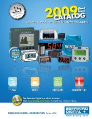Precision Digital Product Catalog - Industrial Controls