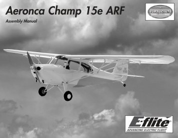 Aeronca Champ 15e ARF Manual - Horizon Hobby