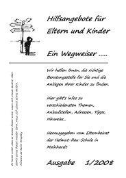Wegweiser - Helmut-Rau-Schule-Mainhardt