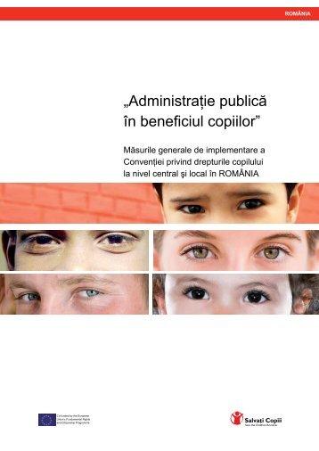 """""""Administraţie publică în beneficiul copiilor"""" - Salvati Copiii"""