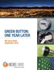 GREEN BUTTON: ONE YEAR LATER - Institute for Electric Efficiency
