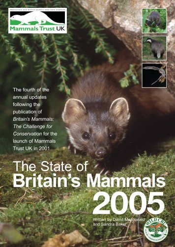 State of Britain's Mammals 2005 - People's Trust for Endangered ...