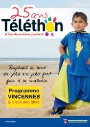 programme des animations Téléthon 2011 à Vincennes - Ville de ...