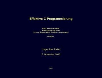 Effektive C Programmierung