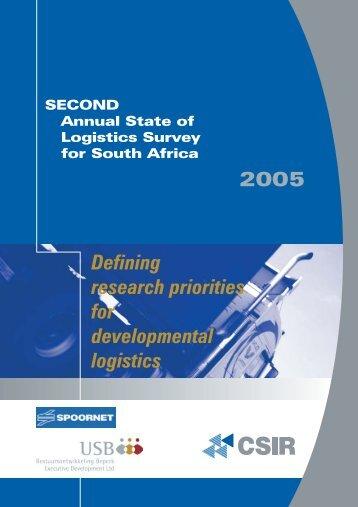 2005 Defining research priorities for developmental logistics - CSIR