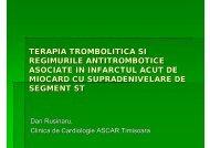 terapia trombolitica si regimurile antitrombotice asociate ... - Medikal.ro