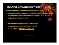 multiple intelligence theory - Seattle Central Community College