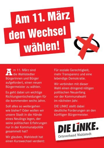 Am 11. März den Wechsel wählen! - Die Linke, Kreisverband ...