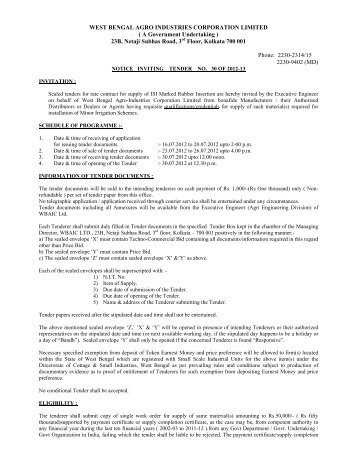 Tender_Notice_NIT30 - West Bengal Agro Industries Corporation ...
