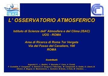 Osservatorio atmosferico - ARPA Lazio