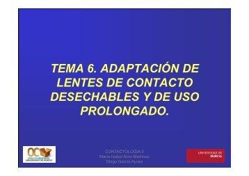 tema 6. adaptación de lentes de contacto desechables - OCW