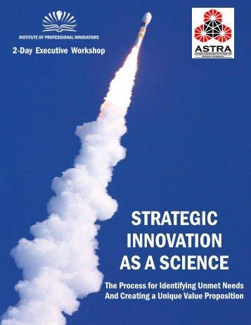 STRATEGIC INNOVATION AS A SCIENCE - US Innovation