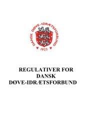 REGULATIVER FOR DANSK DØVE-IDRÆTSFORBUND
