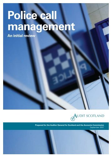 Police call management - An initial review (PDF ... - Audit Scotland