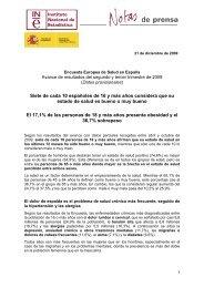 Encuesta Europea de Salud en España - Instituto Nacional de ...