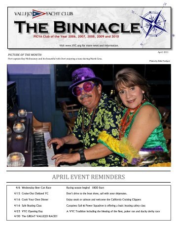April Binnacle Final Web - Vallejo Yacht Club