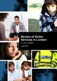 Review of victim services in London
