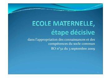 Référentiel de compétences BO n°32 du 3 ... - m@ternelle 94