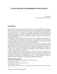 VALIDATION DANS L'ENVIRONNEMENT PAPIER CRAYON ...