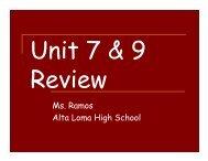 Unit 7 & 9 Review