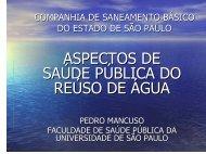 Pedro Mancuso - professor da Faculdade de Saúde ... - Sabesp