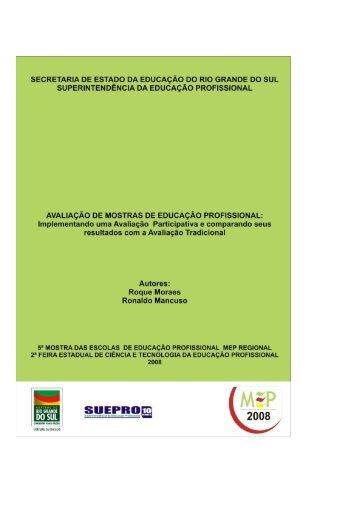 avaliação participativa em mostras do ensino profissional