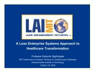 A Lean Enterprise Systems Approach to Healthcare ... - MIT SDM