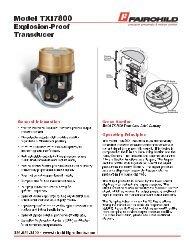 Fairchild Model TFXI7800 I/P Transducer